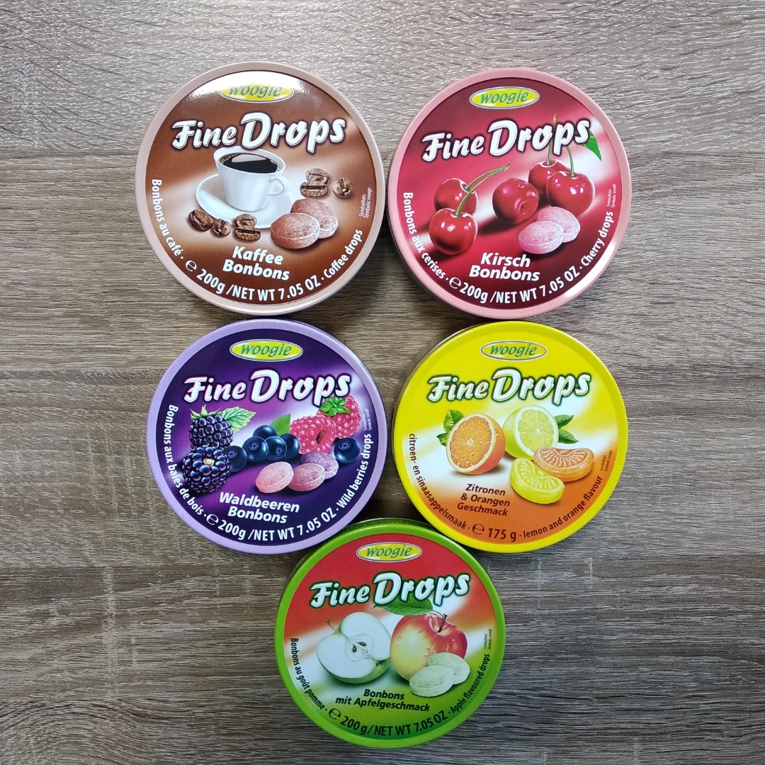 Льодяники Fine Drops  (Фрукти) 200 гр.