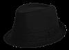 Шляпа челентанка коттон черный