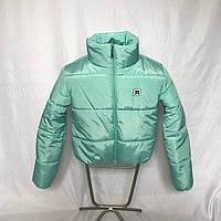 Молодежная мятная зимняя куртка, 42 - 48