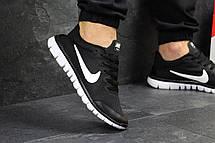 Мужские кроссовки летние Nike Free Run 3.0 черно-белые, фото 3