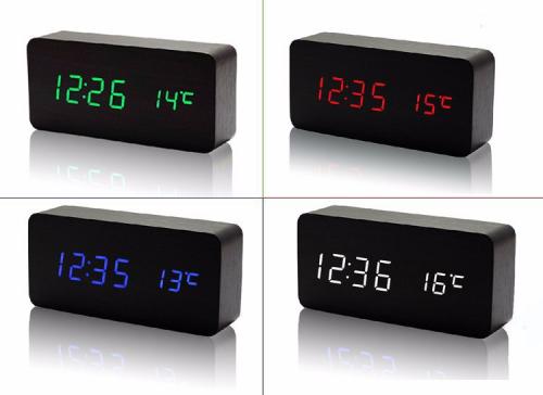 Настольные часы VST-862S-4 с ярко-зеленой подсветкой