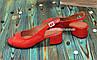 Босоножки кожаные красные на невысоком устойчивом каблуке, фото 3