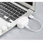 Беспроводные наушники блютуз гарнитура Wi-pods F6 белые, оригинал: улучшенная версия наушников Wi-pods А6, фото 9
