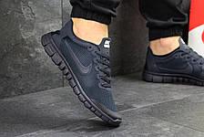 Мужские кроссовки летние Nike Free Run 3.0,темно синие, фото 3