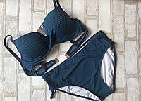 Женский купальникраздельный в полоску размер норма 44-50(цвета как на фото), фото 1