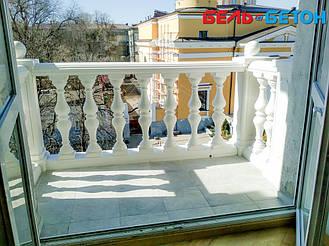 Эта балюстрада простоит долго! Искусственный мрамор по технологии мрамор из бетона – лучшее решение!