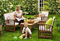 Садові меблі з дерева. Софа+столик+2крісла, фото 1