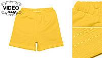 Шорти дитячі трикотажні жовті  бавовна / шорты детские трикотажные желтые хлопок