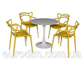 Стул пластиковый FLOWER PP-601 yellow, фото 3