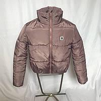 Короткая лиловая куртка на силиконе, XS - L