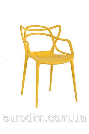 Стул пластиковый FLOWER PP-601 yellow, фото 2