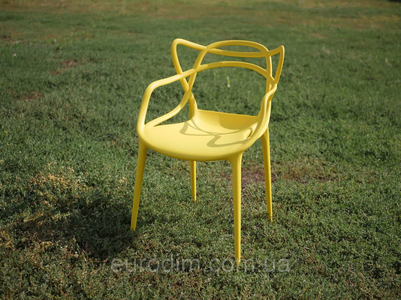 Стул пластиковый FLOWER PP-601 yellow