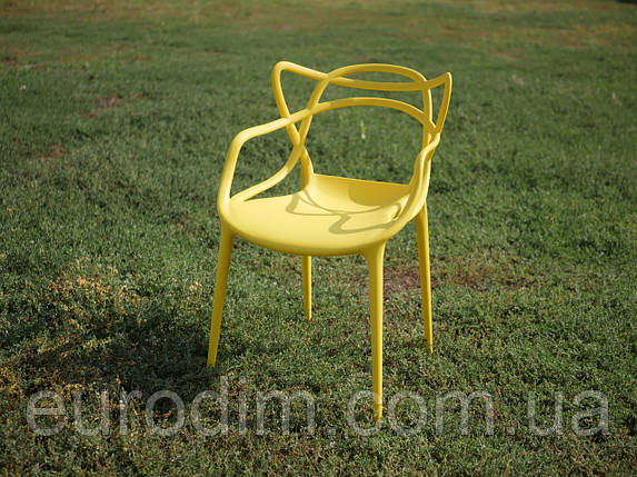 Стул пластиковый МАСТЕРС желтый, фото 2