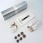 Навушники Wi-pods S2 Bluetooth бездротові Bluetooth 4.2 водонепроникні із зарядним кейсом. Білі, фото 3