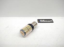 Автолампа LED 1156, PY21W, BAU15S, 144SMD, 12V, 21W без быстрого моргания Canbus, Желтая