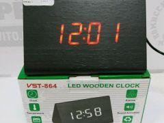 Настольные часы VST-864-1 с красной подсветкой