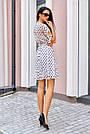 Белое платье в горох женское, молодёжное, элегантное, повседневное, нарядное, фото 2