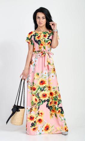 """Летнее длинное платье """"Цветана"""" размеры 44-46, 48-50, 52-54, фото 2"""