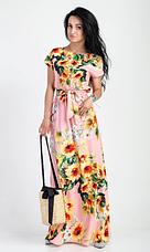 """Летнее длинное платье """"Цветана"""" размеры 44-46, 48-50, 52-54, фото 3"""