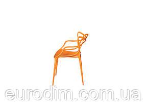 Стул пластиковый FLOWER PP-601 orange, фото 3