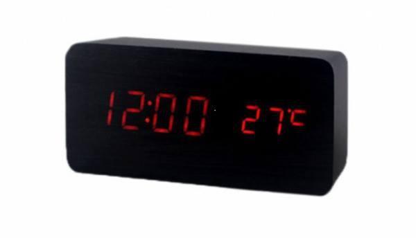 Настольные часы VST-865-1 с красной подсветкой
