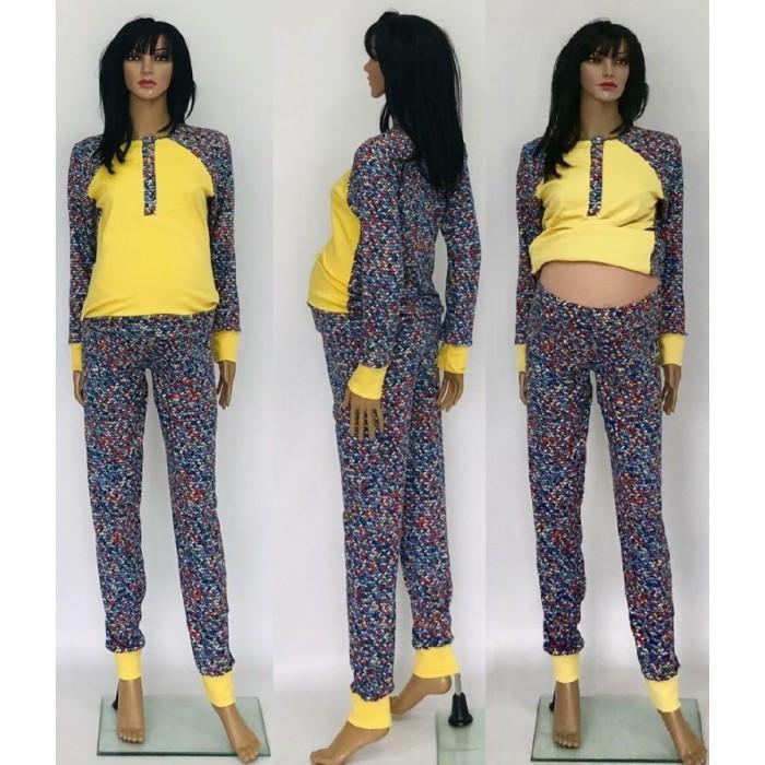 1b052d9819ed Домашний костюм для сна и отдыха для беременных и кормящих мам с брюками  44-50