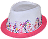 Шляпа челентанка фотопринт х/б клумба