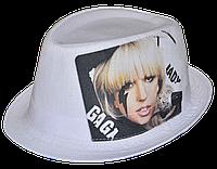 Шляпа челентанка фотопринт х/б Lady GAGA