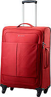 Тканевый прочный средний чемодан 65 л. Carlton Ultralite NXT 094J468;77 красный