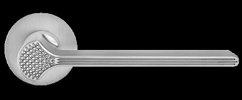Ручка для дверей на розетке Z-1700 MOC матовый старый хром