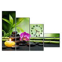 Сборная модульная картина часы для декора интерьера IdeaX Прекрасная картина, 120х90 см
