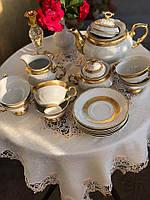 Сервіз чайний на 6 персон. 17 предметів. Золота полоса.  Марія Луіза. Сarlsbad