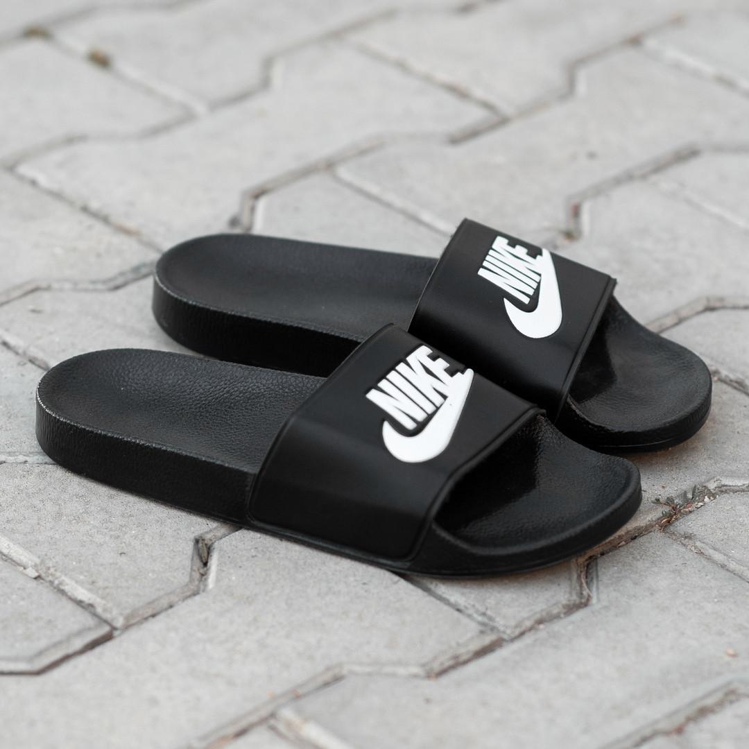 Сланцы. Шлёпанцы мужские Nike Black (шльопанці). ТОП КАЧЕСТВО !!! Реплика класса люкс.