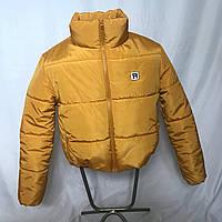 Трендовая короткая горчичная куртка, XS - L