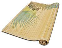 Циновка из бамбуковых палочек с подкладкой и рисунком (60*90)