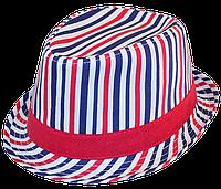 Шляпа челентанка х/б красно-синяя полоска