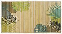 Циновка из бамбуковых палочек с подкладкой и рисунком (70*120)