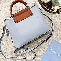 Женская маленькая сумка голубо-коричневая, фото 1