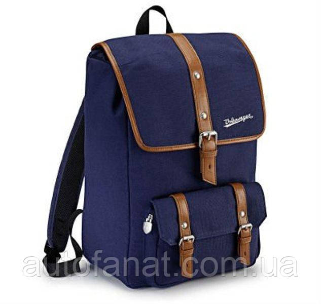 Оригінальний рюкзак Volkswagen Classic Backpack, Dark Blue / Brown (311087329)