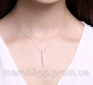 Серебряная подвеска Match + цепочка