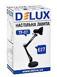 Светильник настольный DELUX TF-07_E27 черный , фото 3