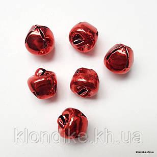 Бубенчики, Металлические, 9×10 мм, Цвет: Красный (20 шт.)