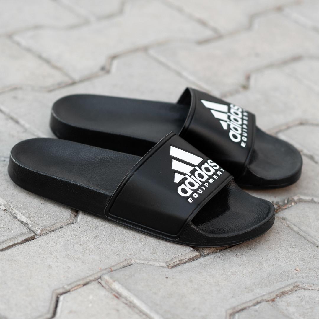 Сланцы. Шлёпанцы мужские  Adidas Black (шльопанці). ТОП КАЧЕСТВО !!! Реплика класса люкс.