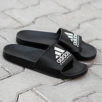 Сланцы. Шлёпанцы мужские  Adidas Black (шльопанці). ТОП КАЧЕСТВО !!! Реплика класса люкс., фото 1