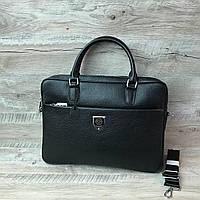 Стильный мужской кожаный портфель Philipp Plein, фото 1