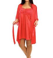 Красивый комплект -халат с ночной рубашкой