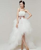 Свадебное платье - розы