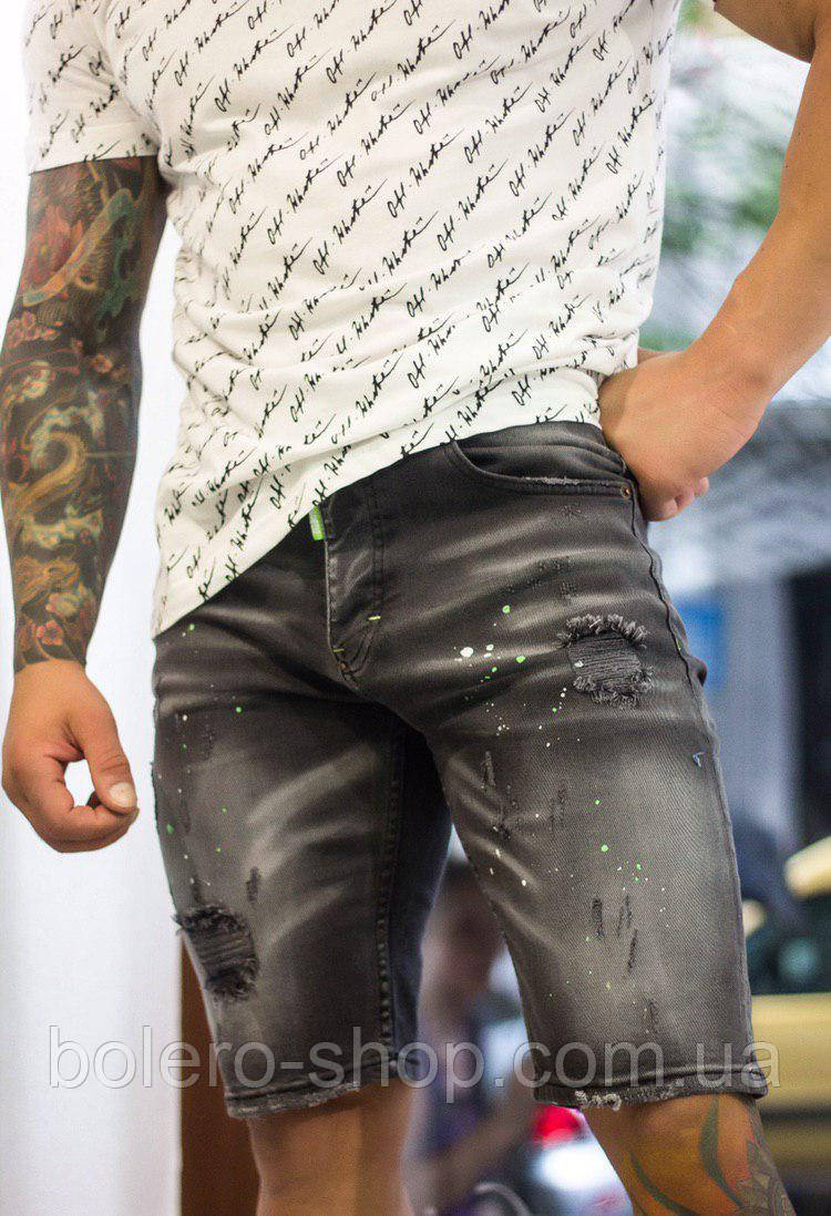 Шорты джинсовые мужские Dsquared2 серые