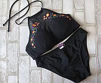 Женский купальникраздельный с фатиновой вставкой и Push-up размер норма 36-40 (цвета как на фото)