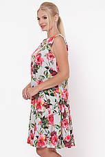 Свободное платье с цветами для полных Настасья, фото 2